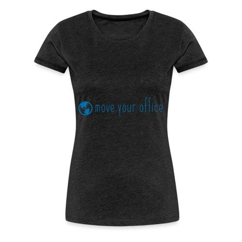 Das offizielle move your office Logo-Shirt - Frauen Premium T-Shirt