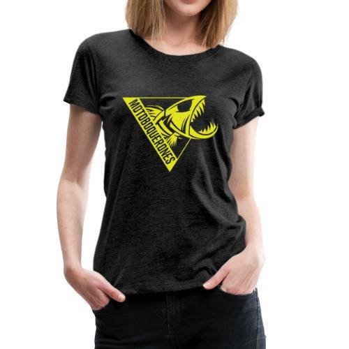 Logo Motoboquerones amarillo - Camiseta premium mujer