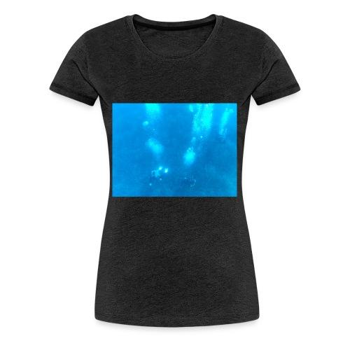 Taucher unter Wasser - Frauen Premium T-Shirt