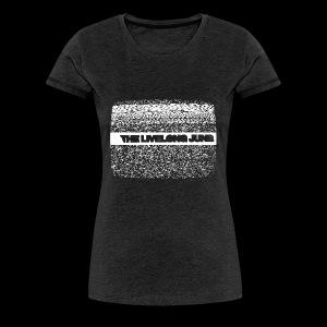 The Livelong June - Logo on static noise/analog TV - Premium-T-shirt dam