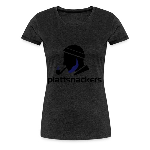 Plattsnackers mit Text - Frauen Premium T-Shirt