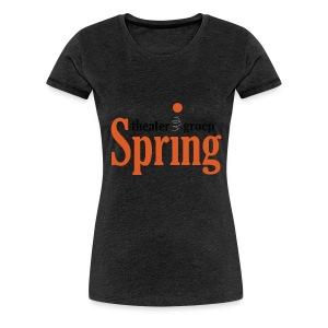 Gymtas met logo van Theatergroep Spring - Vrouwen Premium T-shirt
