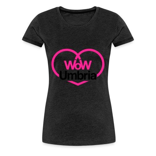 wow umbria nero fuxia - Maglietta Premium da donna