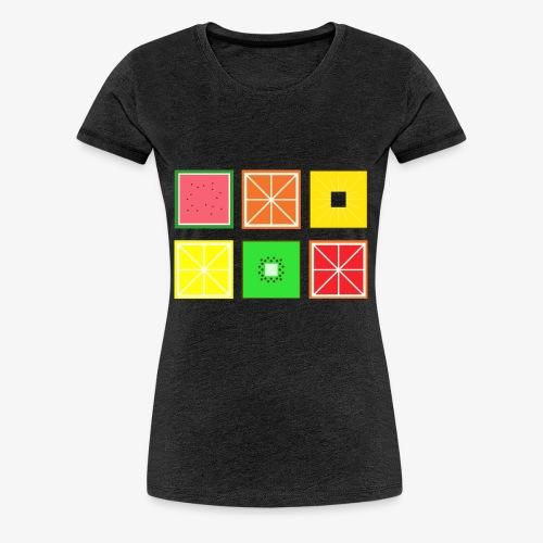 DIGITAL FRUITS - Pixel Frucht - Frauen Premium T-Shirt