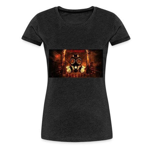 La Delinquance  Gun Masque A Gaz  Fond Flamme - T-shirt Premium Femme