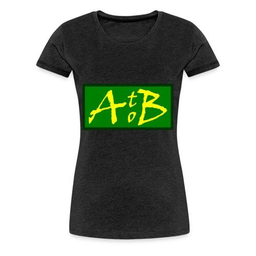 AtoB Logo green / yellow - Women's Premium T-Shirt