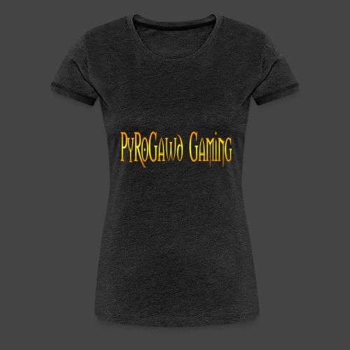 PyroGawd Logo Text - Frauen Premium T-Shirt
