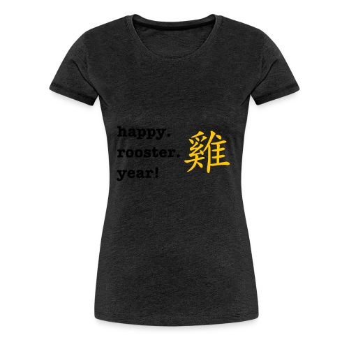 happy rooster year - Women's Premium T-Shirt