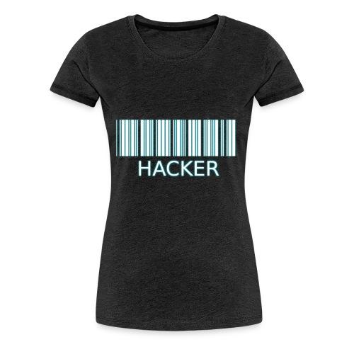 Hacker_barcode Cup - Maglietta Premium da donna