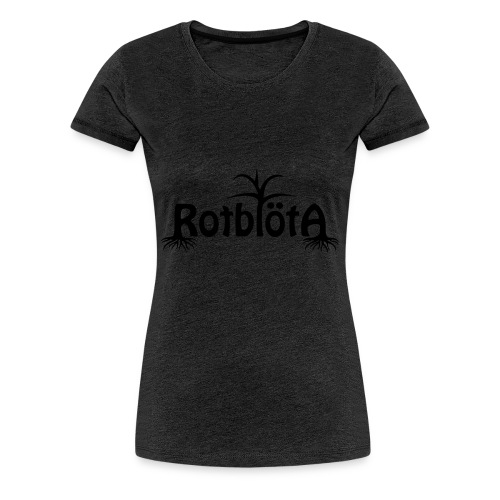 Rotblöta svart logo - Premium-T-shirt dam