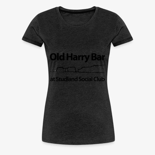 Old Harry Bar logo - black - Women's Premium T-Shirt