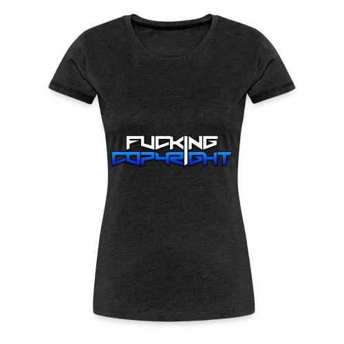 Logo FuckingCopyright Blue - Camiseta premium mujer