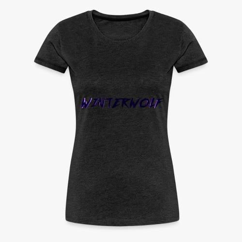 Official WINTERWOLF Season V logo - Vrouwen Premium T-shirt