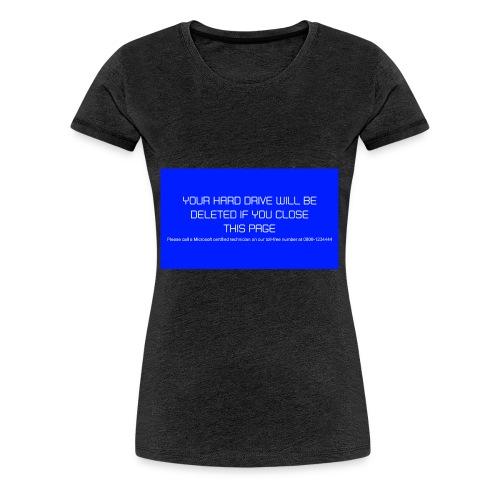 Hard Drive Deleted Notice - Women's Premium T-Shirt