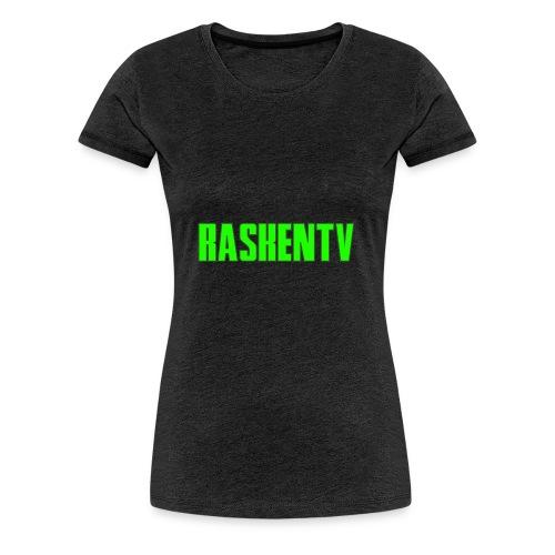 RaskenTv Green - Premium-T-shirt dam