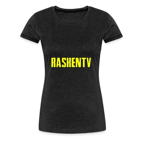 RaskenTv Yellow - Premium-T-shirt dam