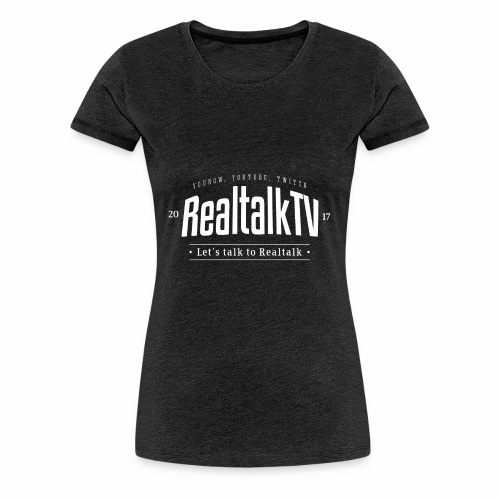 realtalk logo weiss - Frauen Premium T-Shirt