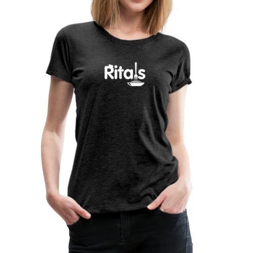Logo Ritals bianco negativo - Maglietta Premium da donna