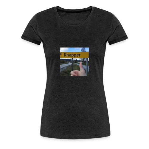 Dette er skiltet inn til Knapper fra Gardvik. - Women's Premium T-Shirt