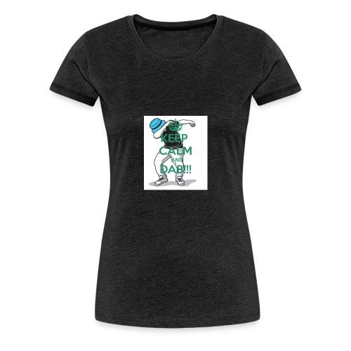 Keep calm and dab! - Dame premium T-shirt