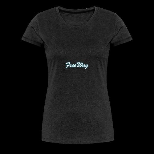 FreeWag Blanc - T-shirt Premium Femme