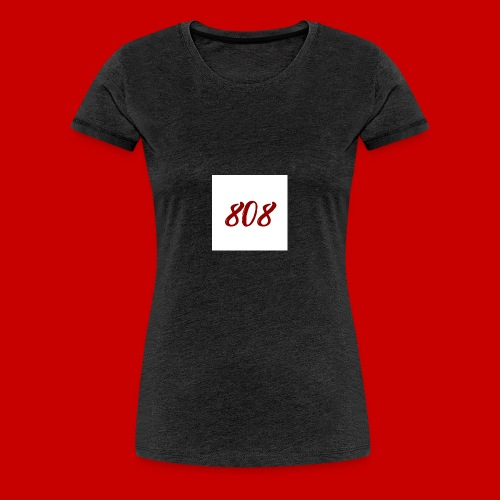 red on white 808 box logo - Women's Premium T-Shirt
