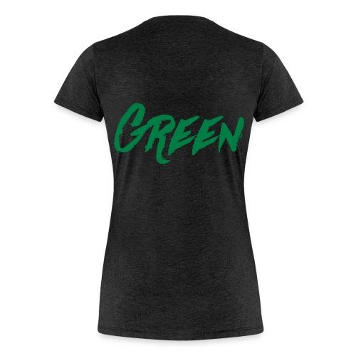 green-scritta-verde - Maglietta Premium da donna