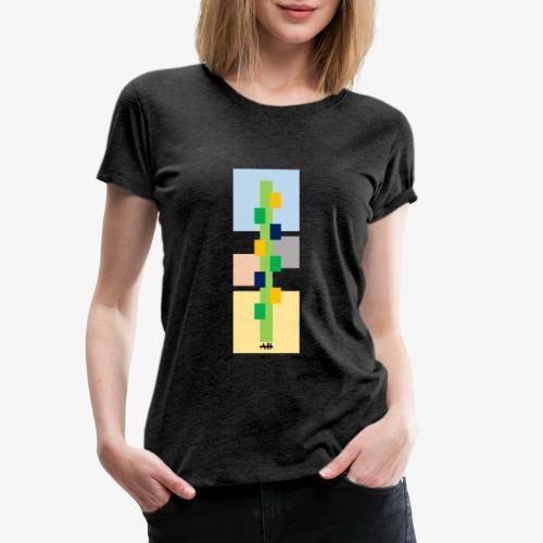 Lime-Blue Checkered - Camiseta premium mujer