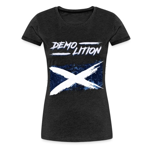 Scottish Flag Demolition - Women's Premium T-Shirt