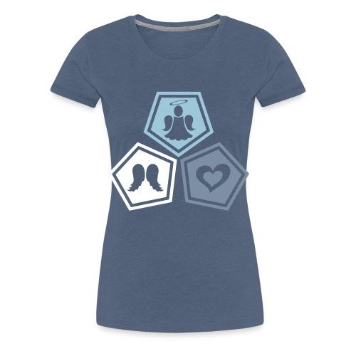 Tee shirt baseball Enfant Trio ange, ailes d'ange - Women's Premium T-Shirt