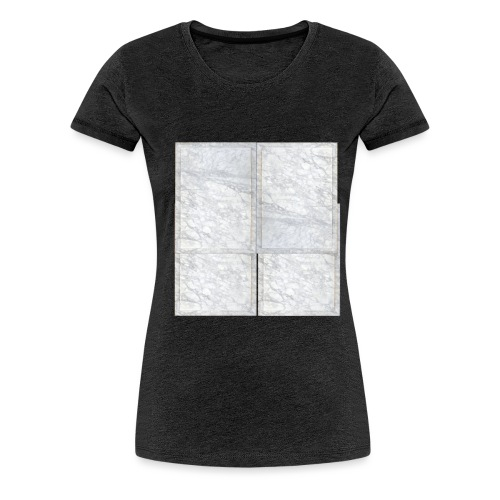 White Marble - T-shirt Premium Femme