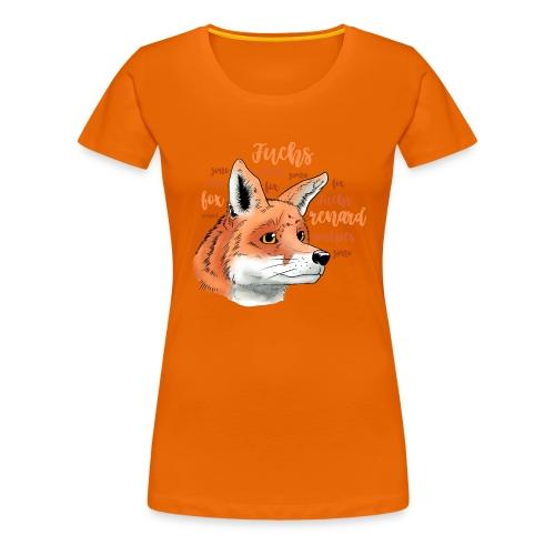 Fuchsportrait mit Lettering - Frauen Premium T-Shirt