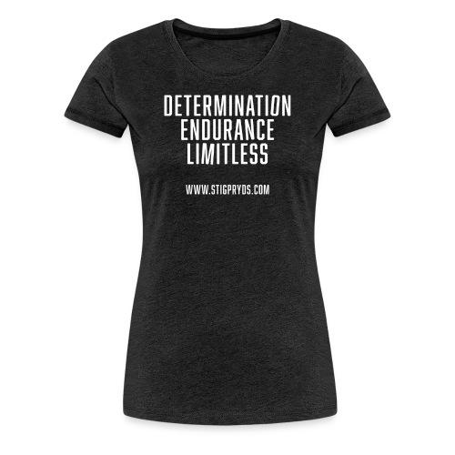 test tshirt front2 txt scewed2c - Dame premium T-shirt