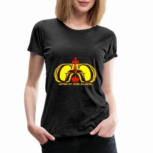 Gaming ist meine Religion [Gelb] - Frauen Premium T-Shirt