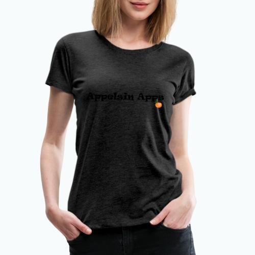 Appelsin Logo - Premium-T-shirt dam