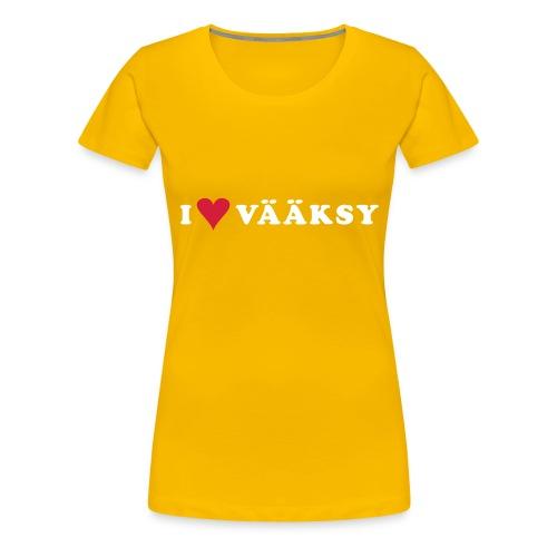 I LOVE VAAKSY - Naisten premium t-paita