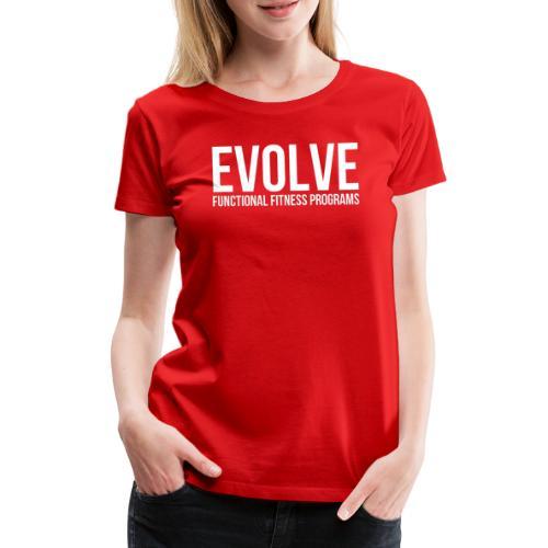 evolve white - Premium-T-shirt dam