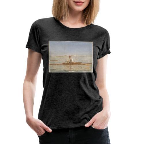 John Biglin in a Single Scull - Thomas Eakins - T-shirt Premium Femme