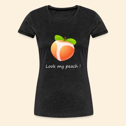 Look my peach in white - Women's Premium T-Shirt