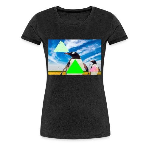 ultra_mega_h--ftig_pingvin_med_yolo_man_swag - Premium-T-shirt dam