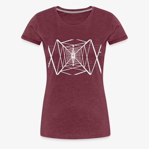 Quermast V2 Weiß - Frauen Premium T-Shirt
