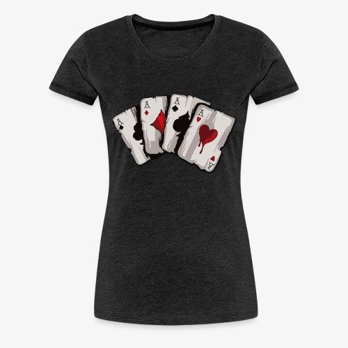 4 Asse und die NUTS - Frauen Premium T-Shirt