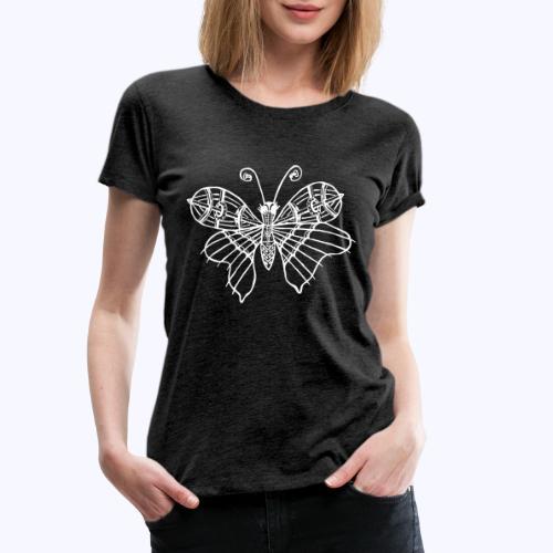 Schmetterling weiss - Frauen Premium T-Shirt