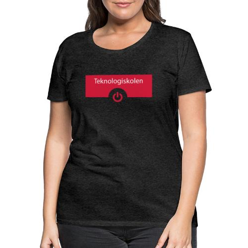 TeknologiskolenLogo - Dame premium T-shirt