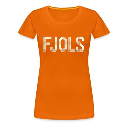 FJOLS med hvid tekst - Dame premium T-shirt