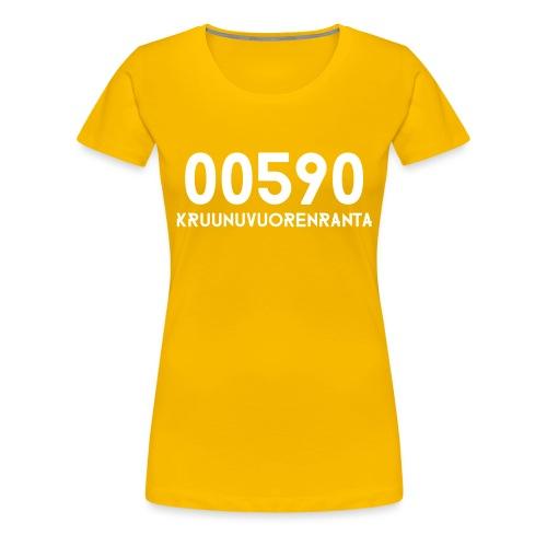 00590 KRUUNUVUORENRANTA - Naisten premium t-paita