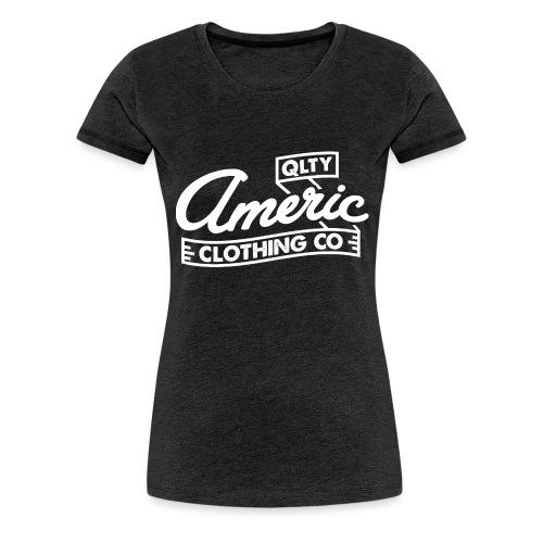 white logo - Vrouwen Premium T-shirt