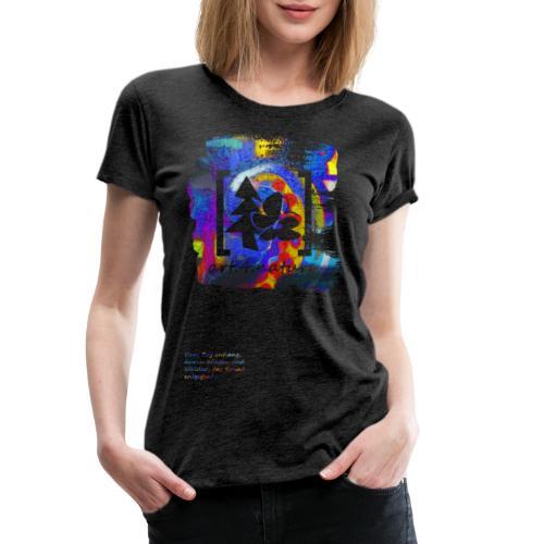 #art.4.nature / blau - Frauen Premium T-Shirt
