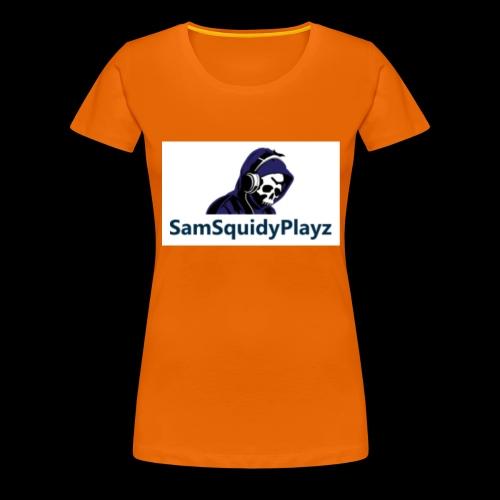 SamSquidyplayz skeleton - Women's Premium T-Shirt