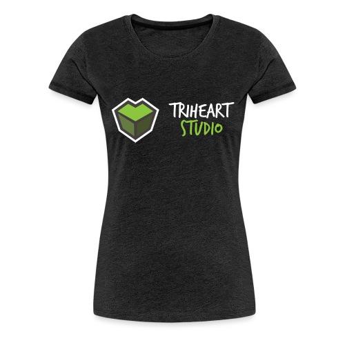 Triheart Studio Logo Sideways - Dame premium T-shirt